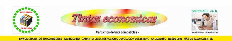 TINTAS ECONOMICAS - CARTUCHOS DE TINTA
