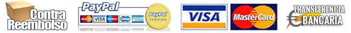 Compre mediante contra reembolso, tarjeta, PayPal, o transferencia, sus cartuchos de tinta